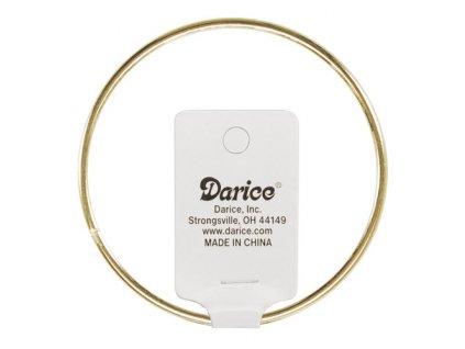 N-1718 Drátěný kruh 12cm zlatý (tloušťka 3mm)
