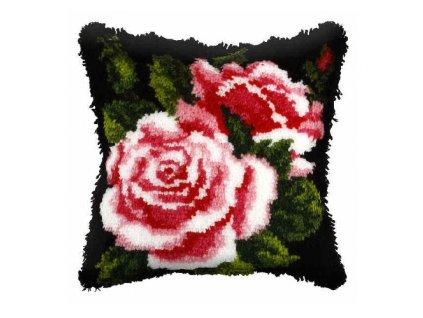 OR4053 Polštářek s růžemi (tapico)