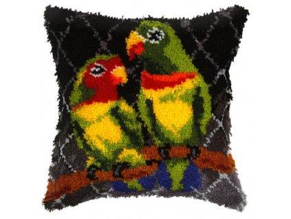 OR4064 Polštářek s papoušky (tapico)