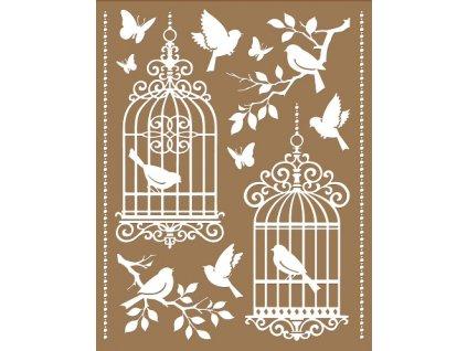 AP10465 Samolepky na zeď - ptačí klece