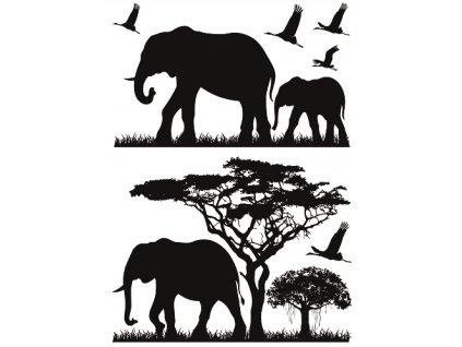 AP10475 Samolepky na zeď - sloni