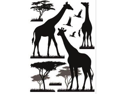AP10476 Samolepky na zeď - žirafy
