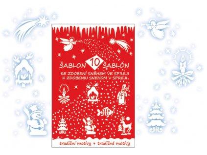 AP1401 Šablony s vánočním motivem (10ks)