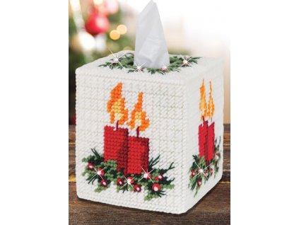 N-26709 Krabice na papírové kapesníky se svíčkami