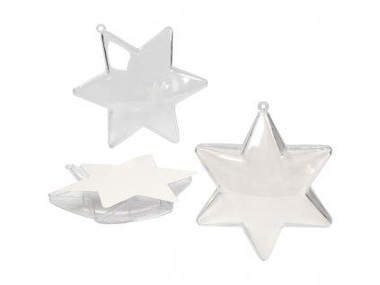 CRE-52153 Plastová hvězda 10cm (5ks)