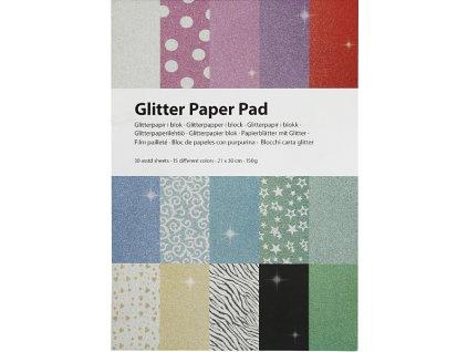 CRE-21062 Glitrový papír v bloku