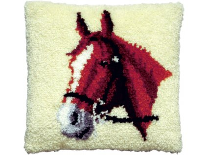 PA013.053 Polštářek s hlavou koně (tapico)