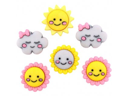 DIU-10403 Ozdobné knoflíky - Hello Sunshine