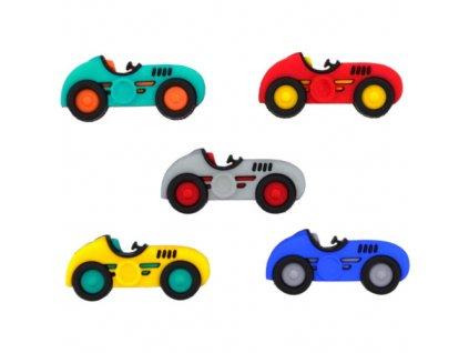 DIU-10409 Ozdobné knoflíky - Speed Racers