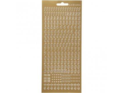 CRE-170212 Samolepící zlatá čísla
