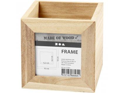 CRE-57455 Dřevěný box na tužky se sklem