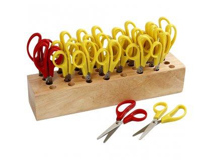 CRE-11227 Universální školní nůžky pro leváky  - červené 12,5cm (1ks)