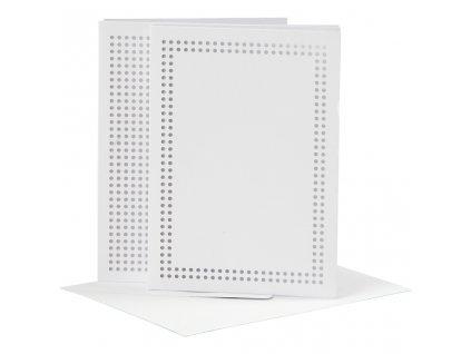 CRE-23901 Papírová přání s obálkou k vyšití (6ks)