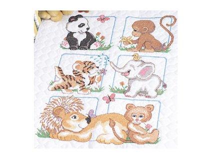 13083 Animal Babes Quilt - dětská přikrývka