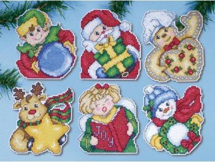 DW-1679 Vánoční plastové ozdoby (6ks)