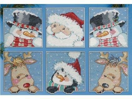 DW-1657 Vánoční plastové ozdoby (6ks)