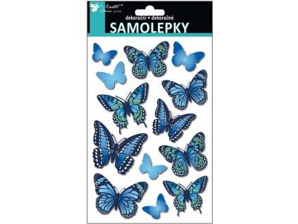 AP10239 Samolepky - 3D motýli (13ks)