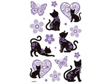 AP10207 Samolepky - kočky a motýli (14ks)