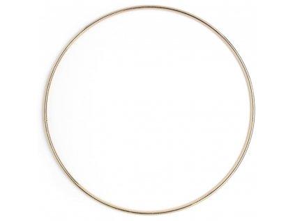 N-40000653 Drátěný kruh 15cm zlatý (tloušťka 3mm)