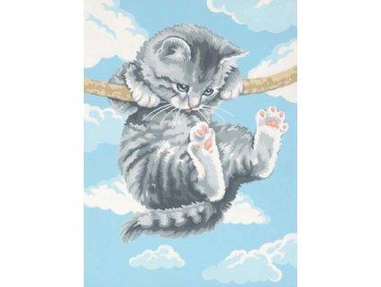 DIM73-91226 Malování podle čísel - Hang on Kitty (23x30cm)