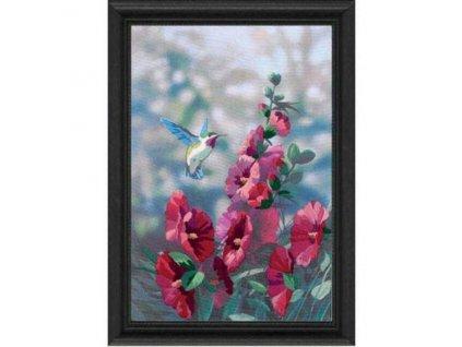 11127 Hollyhocks in Bloom - V květu (plné vyšívání)
