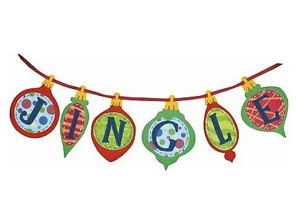 72-08195 Jingle Banner - Vánoční ozdobný řetěz