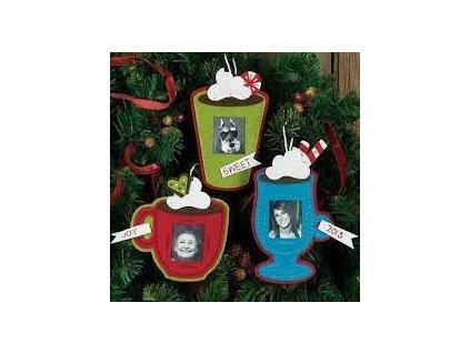 72-08191 Cocoa Cups Ornaments - vánoční ozdoby