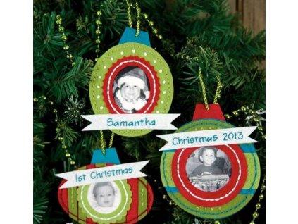 72-08190 Framed Ornaments - vánoční ozdoby