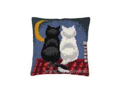 VE-PN0008598(1200-668) Polštář s kočkami na střeše