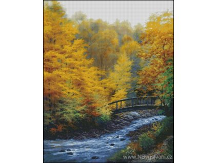 Autumn Stream (Aida 18ct)
