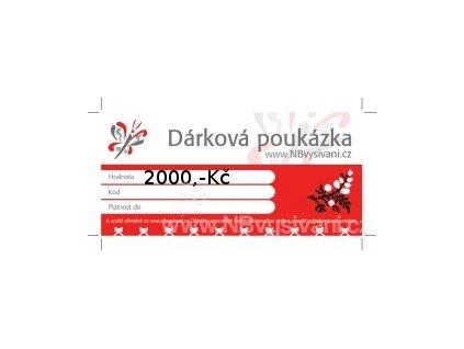 Dárková poukázka v hodnotě 2000,-Kč