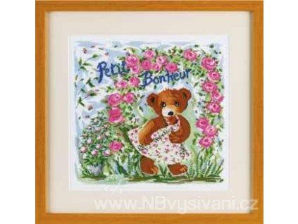 ARP988.6416.09 Medvědice a růžové květy (doprodej)