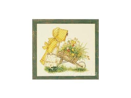 B43783 Trakař s květinami