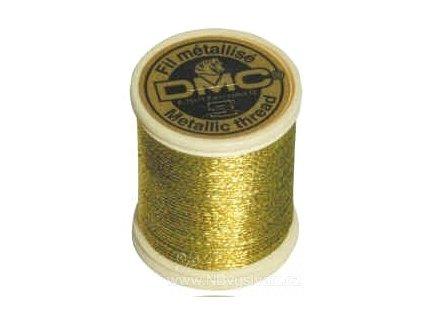 DMC-282A Metalická příze - light gold (40m)