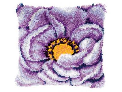 VE-PN0021852 Polštář s fialovým květem (tapico)