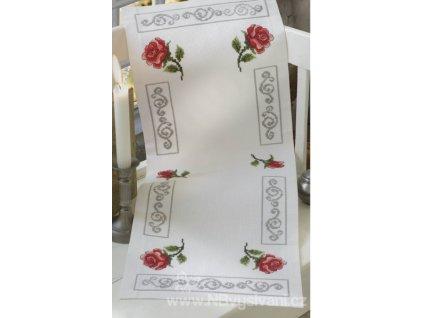 A-9240000-02701 Ubrus s růžemi (28x75cm)