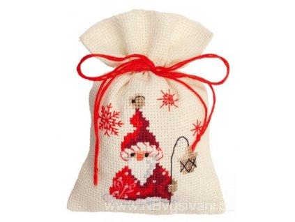 VE-PN0144300 Dekorační sáček  - Santa s lucernou