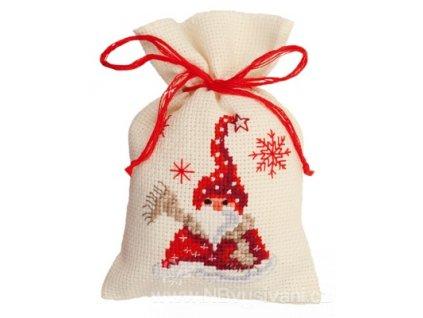 VE-PN0144319 Dekorační sáček  - Santa se šálou