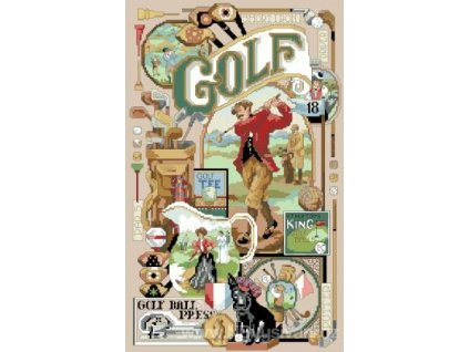 IC2381-1137 Golf Memorabilia (Aida 14ct)