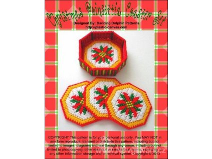 IC10099 Christmas Poinsettia Coaster Set