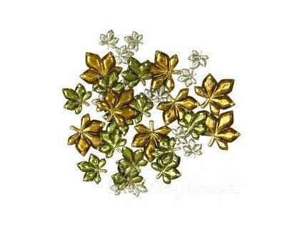 NFF-1207 Ozdobné knoflíky - Gems Leaves