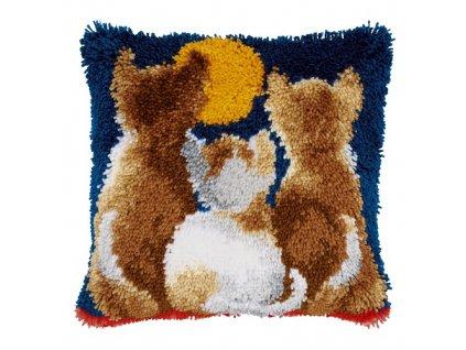 VE-PN0021651 Polštářek s kočkami (tapico)
