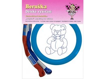 BE70001 Sada s kulatým rámečkem - medvídek