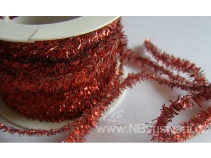 V12103-138 Stuha ozdobná FUZZY červená (1m)