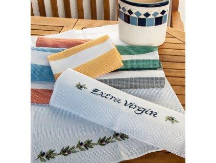 HOF2381-10 Vaflový ručník - bílý (50x70cm)