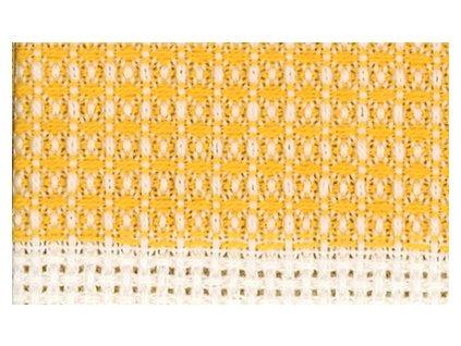 HOF2381-20 Vaflový ručník - žlutý (50x70cm)