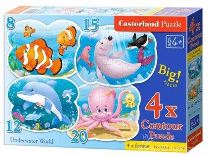 SMT-PU-C0004 Puzzle 4v1 - Podmořský svět (8,12,15,20 dílků)