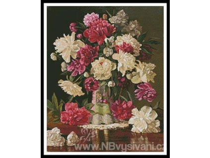 IC10047-11302 Peonies (Aida 18ct)