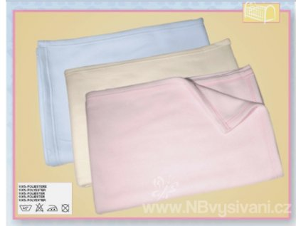 BM-LE1 Dětská fleecová deka do postýlky - růžová...