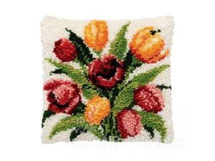 PA013.314 Polštářek s tulipány (tapico)